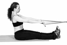Hyperextension Core Exercise with Bands Starting Position