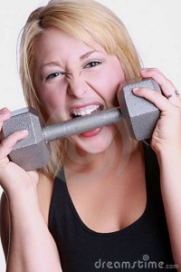 Make sure you have plenty of iron in your diet, but please dont chew your dumbbells!